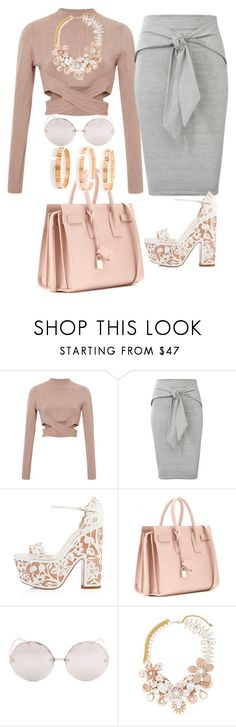 """Untitled #554"" by jmajersky ❤ liked on Polyvore featuring Jonathan Simkhai, Christian Louboutin, Yves Saint Laurent, Linda Farrow, Halo & Co. and Cartier"