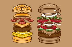 burger king illustration - Google Search