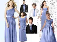 PERIWINKLE DESSY : PANTONE WEDDING Styleboard : The Dessy Group