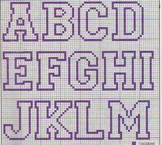Alfabeto A - M roxo maiúscula