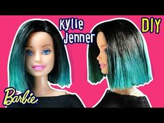 Kylie Jenner Hair Tutorial for Barbie Doll - Barbie Haircut - DIY - Making Kids Toys - YouTube