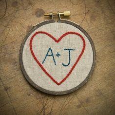 Miniature Custom Heart Sampler