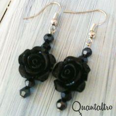 orecchini Rose Black