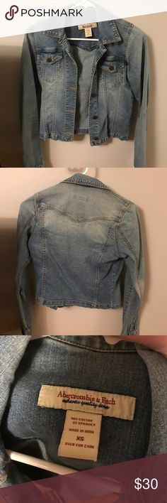 Abercrombie and Fitch jean jacket Great condition! Abercrombie & Fitch Jackets & Coats Jean Jackets