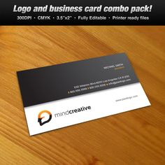 A Logo & Business Card Set Design suitable for media and communication themes. #logo #businesscard #design $39.00