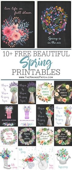 Decorating for the season is a snap with our FREE watercolor spring printables! As always, these spring watercolors come in several sizes and with different background color options. Diy Spring, Spring Crafts, Planner Stickers, Planners, Pics Art, Diy Room Decor, Home Decor, Wall Decor, Diy Wall