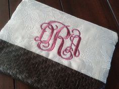 Personalized Cosmetic Bag with Machine by debbierofstad on Etsy, $24.95