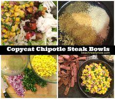 Copycat Chipotle Steak Bowls