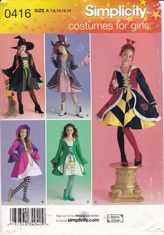 Simplicity Creative Patterns US8237H5 8237 Simplicity Pattern 8237 Misses Alice in Wonderland Cosplay Costumes,Size H5 6-8-10-12-14