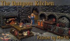 kitchen dragons dungeons diorama dungeon fantasy terrain dnd tavern miniatures grendel damned nabble n2 lost scotia jennifer maiden frostgrave game
