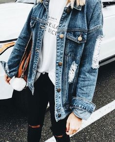 44 Flawless Outfit Ideas How To Wear Denim Jacket, Fall Winter Outfits, Summer Outfits, Casual Outfits, Dinner Outfits, Summer Dresses, Mode Outfits, Fashion Outfits, Fashion Trends, Womens Fashion