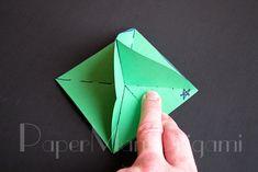 Origami Christmas Tree Tutorial Fun New Ideas Origami Flower Bouquet, Origami Lotus Flower, Origami Swan, Origami Rose, Origami Bird, Origami Animals, Origami Paper, Fun Origami, Snowflake Origami