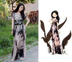 Nancy Zhang - Marc Cain Shirt, Topshop Skirt - Flying poem on your body