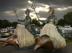 Under the Sea themed glide about fantasy Sea Gods to hire across the UK - Manchester, London, Birmingham, Brighton London Birmingham, Pirates Of The Caribbean, Under The Sea, Corporate Events, Brighton, Manchester, Combat Boots, Ocean, Fantasy
