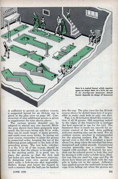 How to build a homemade mini golf course diy ideas pinterest build a basement golf course jun 1950 fandeluxe Images