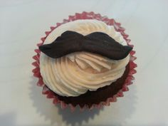 Mustache cupcake by A Cupcake Queen - Crystal Gruber.