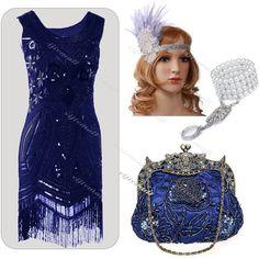 9c693cb3de6 1920 s Flapper Evening Dress Vintage Gatsby Clubwear Sequin Tassel Party Costume  1920s Flapper