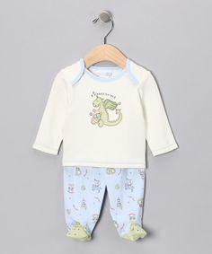 Green 'Sleepy Knight' Tee & Footie Pants - Infant
