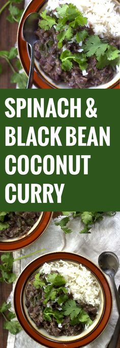 Spinach, Coconut and Black Bean Curry