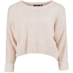 Amber Crop Jumper ❤ liked on Polyvore featuring tops, sweaters, shirts, crop tops, shirt sweater, shirt crop top, crop shirts, jumpers sweaters and pink cropped sweater