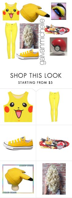 """Pikachu Outfit"" by galvanmichelle ❤ liked on Polyvore featuring Chicnova Fashion, rag & bone, Converse, cutekawaii and Nintendo"