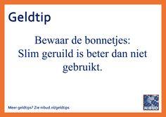 Meer Nibud geldtips? Zie nibud.nl/geldtips