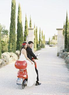 Romantic hot Pink borgo Wedding in Tuscany.  #weddings #weddingplanner