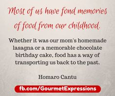 I love the sentiment of this quotes...what were some of your favorite foods when you were a kid? Leave a comment below!