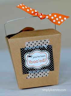 You've been boo'ed--super fun Halloween tradition! FREE printables!! | simplykierste.com