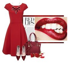 """Lady In Red - [Red Dress Outfit]"" by maggiecakes ❤ liked on Polyvore featuring Phase Eight, Charlotte Russe, women's clothing, women, female, woman, misses and juniors"