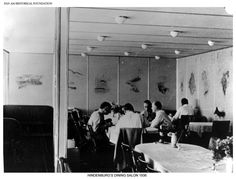 Dining Area Of The Lz 130 Graf Ii Zeppelin Aircraft