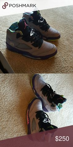 Air Jordan bel airs Only worn once!! No creases or scuff marks. Looks brand new! Original box included Jordan Shoes Athletic Shoes