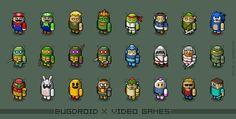 bugdroid-x-videogames-x1