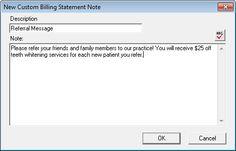 Custom Billing Statement Notes