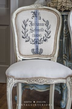Updating a set of flea market french dining chairs with for Painting with a twist cedar hill tx