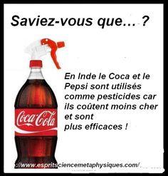 En Inde, le Coca et le Pepsi sont utilisés comme pesticides car ils coûtent beaucoup moin cher et sont aussi efficaces !