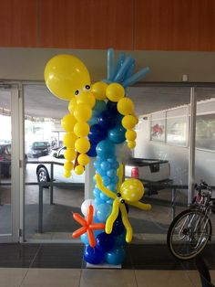 Under the sea balloon column