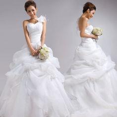 Strapless Ball Gown Organza wedding dress