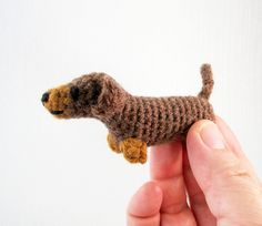 """This PDF includes all the patterns you need to make tiny cats in various colours and mini versions of dachshunds, Jack Russell terriers, corgis, pugs and French bulldogs, in different colours and some with little sweaters. They range in size from 2.25"""" - 3.5"""" long (6 - 9cm)."""