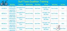 5 week duathlon training program Running Training Programs, Race Training, Muscle Training, Training Plan, Duathlon Training, Post Baby Workout, Half Marathon Training, Train Hard, Workout Challenge