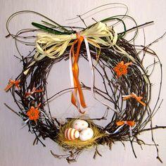 """Velikonoční věneček \""""Hnízdo\"""" Grapevine Wreath, Grape Vines, Wreaths, Fall, Decor, Autumn, Decoration, Door Wreaths, Fall Season"""