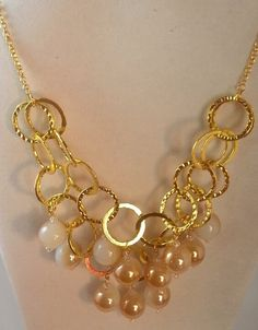 Check out this item in my Etsy shop https://www.etsy.com/listing/175990695/white-beige-beaded-chain-necklace