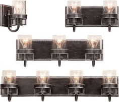Bathroom Lighting Discount Prices kalco 504631, 504632, 504633, 504634 bainbridge bath lights rustic