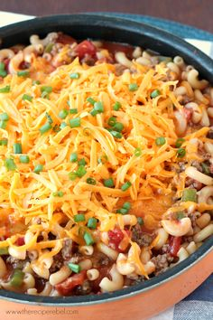 Cheesy Beef Skillet Dinner: a simple weeknight dinner that the whole family will love! www.thereciperebel.com