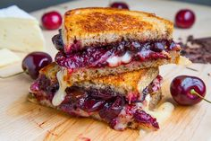 Kevin Lynch :   Balsamic Roasted Cherry, Dark Chocolate and Brie Grilled Cheese Sandwich  http://www.closetcooking.com/2013/07/balsamic-roasted-cherry-dark-chocolate.html