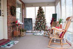 Vintage Style Christmas Porch Decor-virginiasweetpea.com
