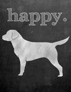 Happy Dog Printable- Sweet C's Designs
