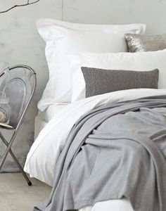 White & Grey Bedding