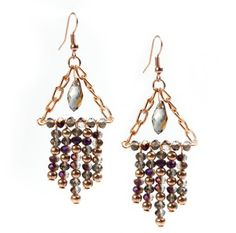 Learn how to make these elegant 'Shimmer' earrings   Beads Direct