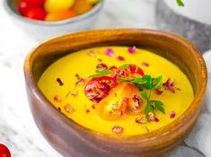 Kukuřičná polévka od Cat & Cook - marksandspencerfood.cz Cheeseburger Chowder, Curry, Hummus, Food And Drink, Pudding, Vegetarian, Cooking, Healthy, Ethnic Recipes